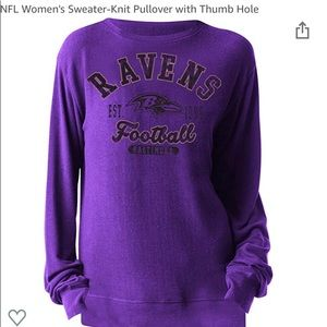 NFL Baltimore Ravens sweater knit pullover M NWT